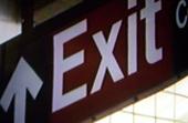 Exit-Schild der Subwayn